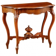 French Louis Philippe Console Table in Cuban Mahogany with Zinc-Lined Cellarette, c. 1830