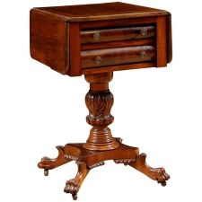 American Federal Side Table in Mahogany, c. 1820