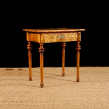 Antique Side Table in Birch, Northern Europe, c. 1870