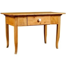 Pine Table with Drawer, circa 1825