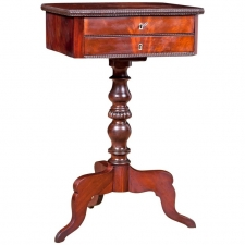 Side Table in Mahogany with Drawers and Interior Compartments, Northern Europe, c. 1840