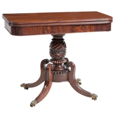 American Federal Side Table in Mahogany, Boston c. 1815