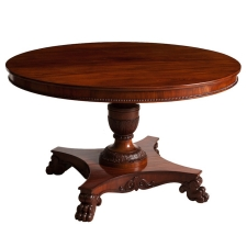 Round Center Pedestal Table in Mahogany, Northern Europe, c. 1850