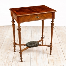 Antique Sewing Table in Walnut, Northern Europe, c. 1870