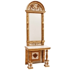 Swedish Gustavian Style Gilt Console and Mirror, c. 1850