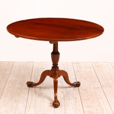 Swedish Antique Tilt Top Center Pedestal Table