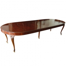 10' Extension Dining Table in Mahogany with 3 Leaves, Northern Europe, c. 1850