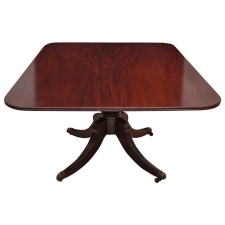 English Regency Center Pedestal, Tilt-Top Dining or Breakfast Table, circa 1820