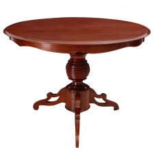 Round Pedestal Table in Mahogany with Tripod Base, Dutch Guiana, c. 1850