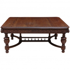 19th Century Renaissance Style Carved Oak Coffee Table