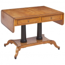 Birch Writing Table from the Estate of Swedish Architect Alfred Grenander