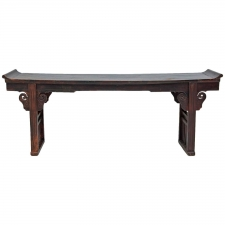 Early 19th Century Chinese Ming-Form Altar Table in Elm Wood, Jiangsu Province