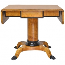 Swedish Karl Johan Empire Writing or Sofa Table in Birch, circa 1820