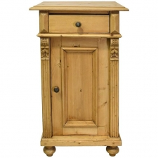 pine nightstand with carved appliques u0026 fluted pilasters germany circa