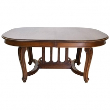 French Belle Epoque Coffee Table in Walnut, circa 1890