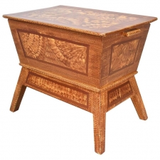 American Dough Box or Chest in Faux Bois Finish, circa 1900